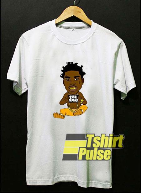 Kodak Black Rapper Cartoon t-shirt for men and women tshirt