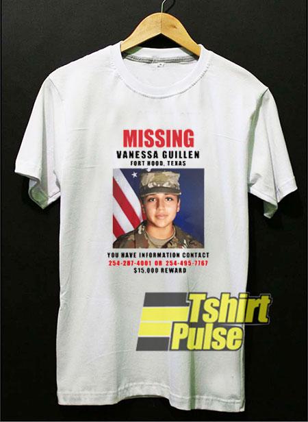 Missing Vanessa Guillen Graphic t-shirt for men and women tshirt