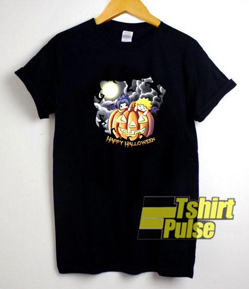 Naruto & Sasuke Halloween t-shirt for men and women tshirt