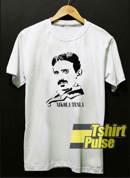 Nikola Tesla Art t-shirt for men and women tshirt
