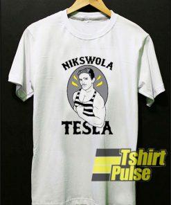 Nikswola Tesla t-shirt for men and women tshirt