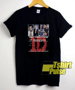 One Direction 10th Anniversary t-shirt for men and women tshirt