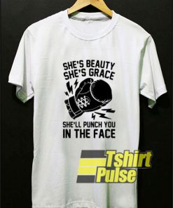 Shes Beauty Shes Grace Shell t-shirt for men and women tshirt
