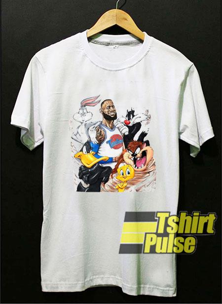 Space Jam Lebron James t-shirt for men and women tshirt