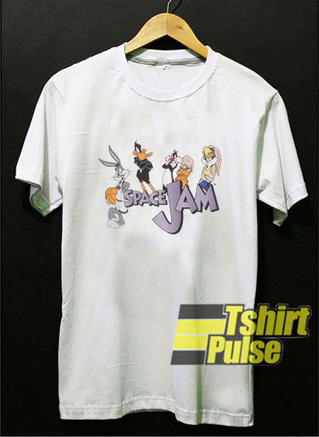 Space Jam Logo Characters t-shirt for men and women tshirt