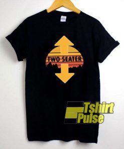 Two Seater Arrow Retro t-shirt for men and women tshirt