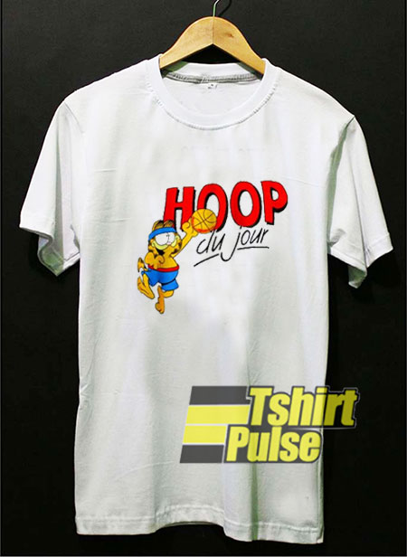 Vintage Garfield Hoop Du Jour t shirt for men and women tshirt
