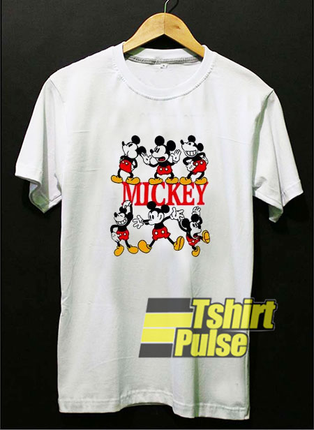 Vintage Mickey Mouse Funny Pose t-shirt for men and women tshirt