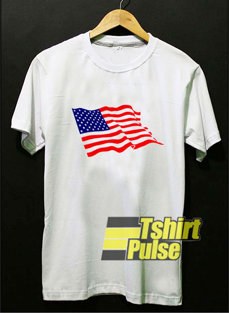 Waving American Flag t-shirt for men and women tshirt
