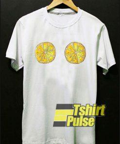 Lemon Boobs Print shirt