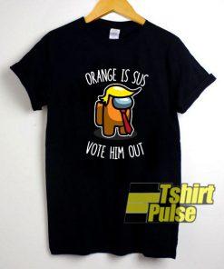 Orange Is Sus Impostor shirt