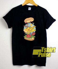 Pizza in Burger shirt