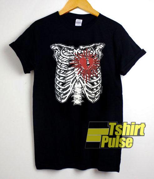 Skeleton Heart Emo shirt