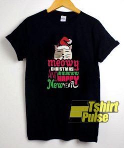 Christmas n New Year Cat shirt
