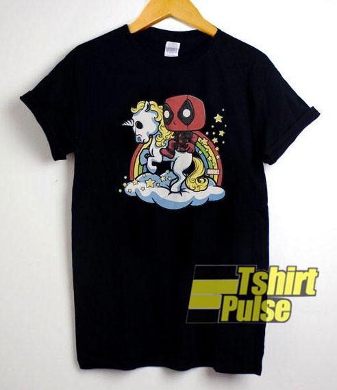Deadpool Riding Unicorn shirt
