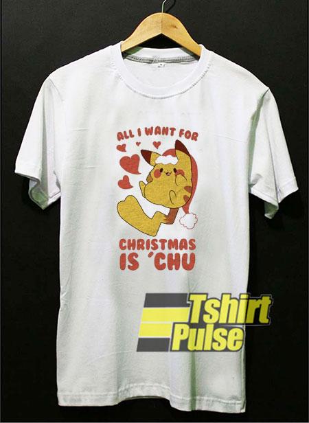I Want Pokemon Christmas shirt