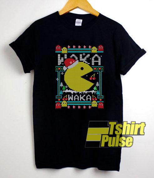 Pacman Waka Waka Christmas shirt