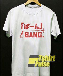 Bang Anime Letter shirt