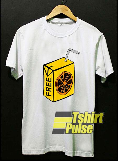 Free OJ Orange Juice shirt