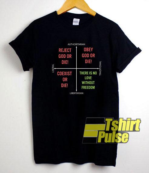 Catholic Political Compass Meme shirt