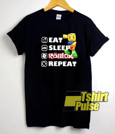 Eat Sleep Roblox Repeat Graphic shirt