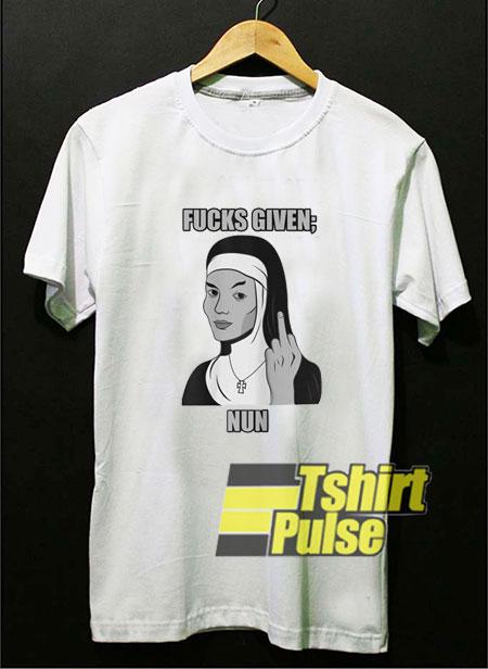 Fucks Given Nun shirt