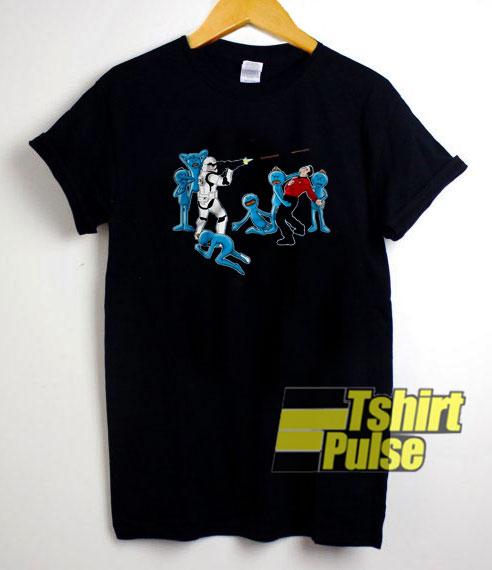 Mr Meeseeks And Stormtrooper shirt