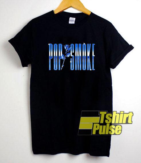 Pop Smoke Rose Blue shirt