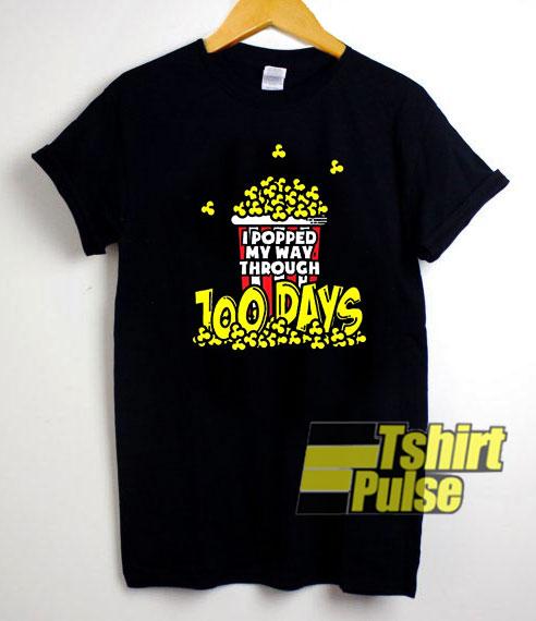 Popcorn 100 Days of School shirt