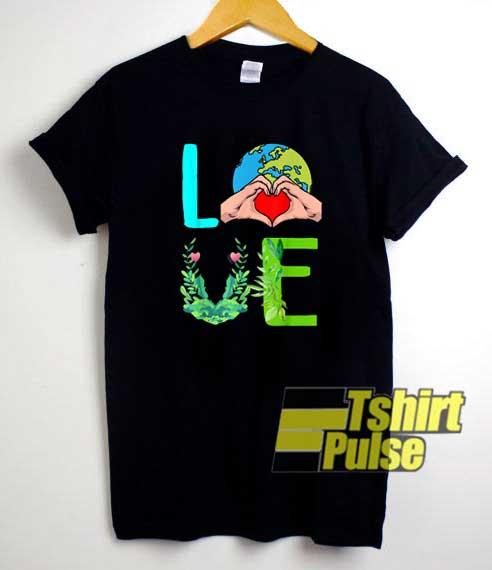 Cute Love Earth Day Planet shirt