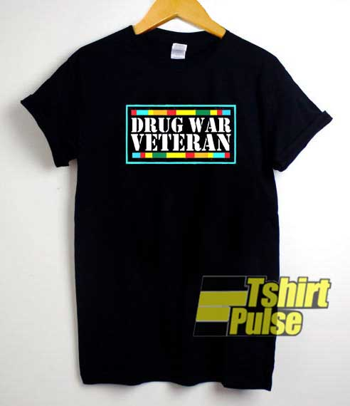 Drug War Veteran Striped shirt