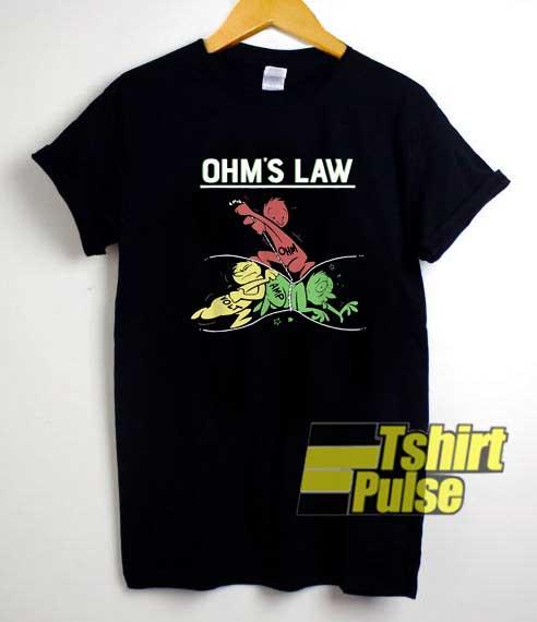 Funny Ohms Law Cartoon shirt