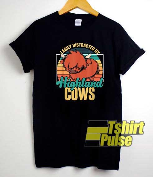 Highland Cows Retro shirt