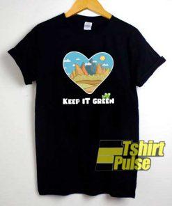 Keep It Green Frog Earth shirt