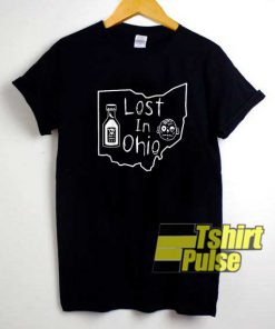 Lost In Ohio Map Draw shirt