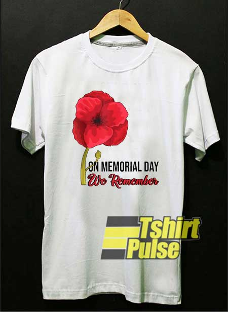 Memorial Day Red Poppy Floral shirt