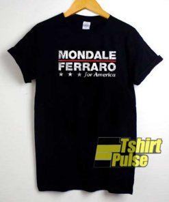 Mondale Ferraro For America shirt