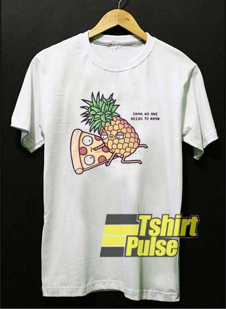 Pineapple Pizza Cartoon Meme shirt