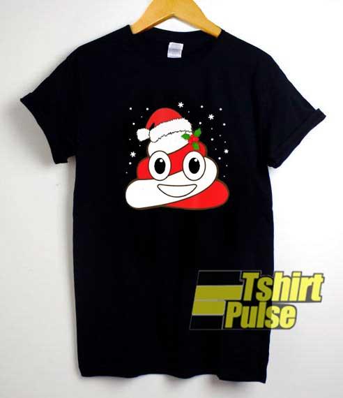 Santa Poop Emoji Christmas shirt
