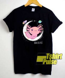 Space Axolotl Kawaii Chibi shirt