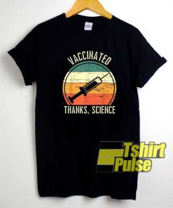 Vaccinated Thanks Science Linen shirt