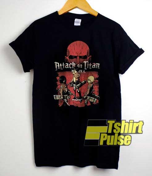 Vtg Attack On Titan Adventure shirt