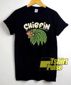 Vtg Chiefin Weed Smoking shirt