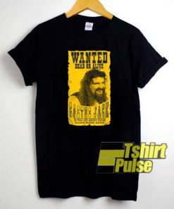 WWE Cactus Jack Wanted Poster shirt