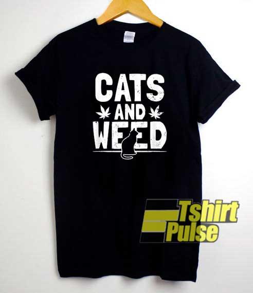 Cats And Weed Cannabis shirt