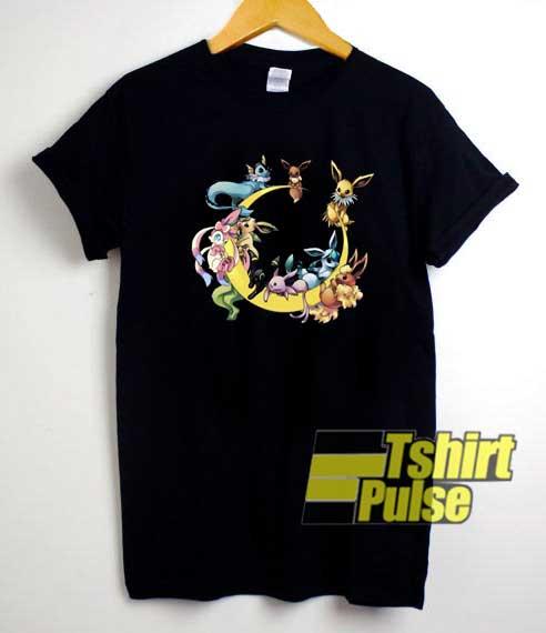 Eevee Evolution Moon Funny shirt