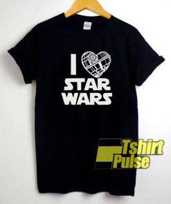 I Love Star Wars Galaxy shirt