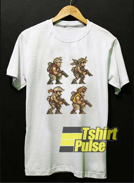Metal Slug Soldier Cartoon shirt
