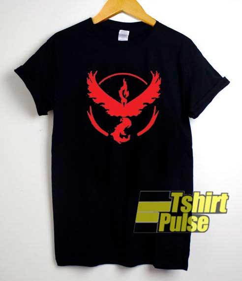 Pokemon GO Team Valor 04 shirt