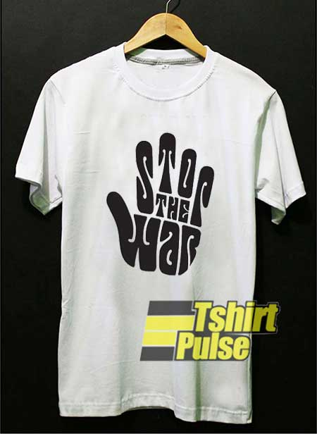 Stop War Hand Graphic shirt